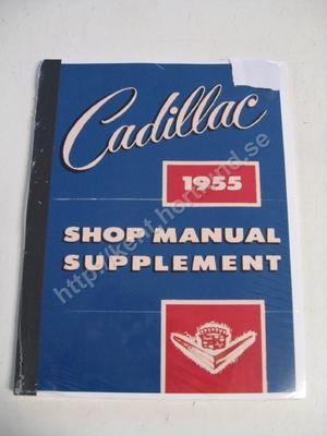 1955 Cadillac Shop Manual supplement