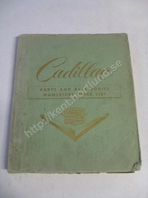 1955 Cadillac Parts and Accessories Numerical Price List
