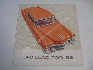 1955 Cadillac broschyr stor folder
