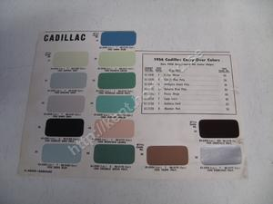 1956 Cadillac 1956 Carry-Over colors