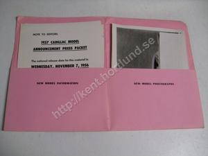 1957 Cadillac  model announcement press packet