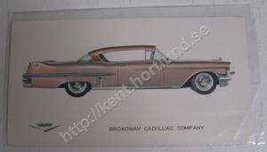 1957 Cadillac Coupe De Ville Försäljningsbroschyr