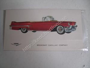 1957 Cadillac Sixty-two Convertible Försäljningsbroschyr
