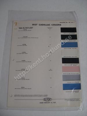1957 Cadillac Colors Du Pont