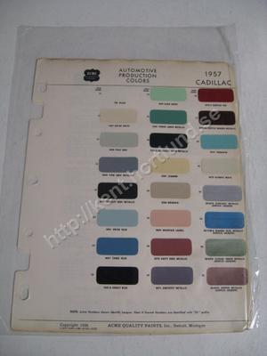 1957 Cadillac Acme automotive colors