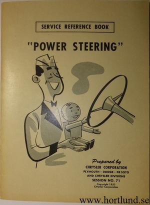 1954 Dodge & Plymouth Power Steering Service Reference Book
