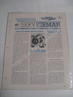 1958  Cadillac Serviceman Magazine