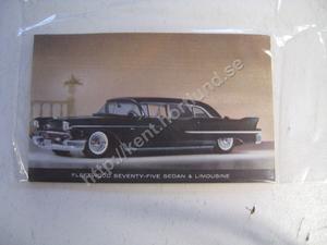 1958 Cadillac minibroschyr alla modeller
