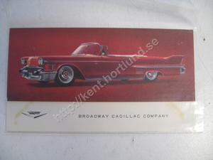 1958 Cadillac Convertible Inbjudan