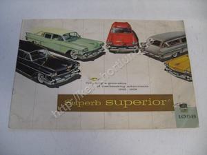 1958 Cadillac Superior Försäljningsbroschyr