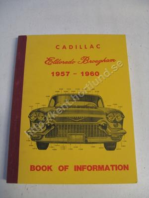 1957-60  Cadillac Eldorado Brougham Book of information
