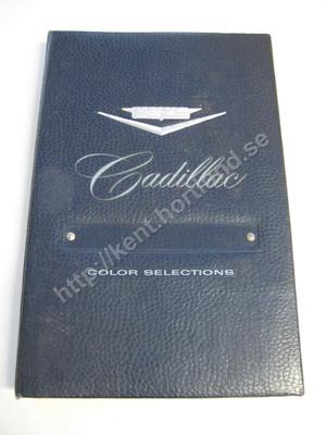 1960 Cadillac Dealer album Color Selections