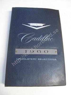 1960 Cadillac Dealer Album Upholstery Selections