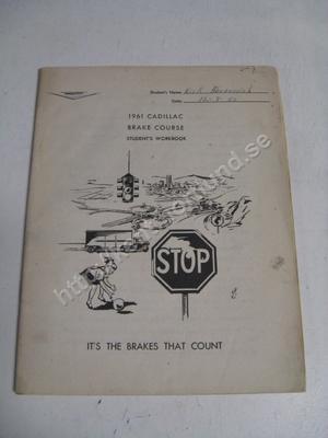1961 Cadillac brake course student's workbook