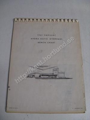 1961 Cadillac Hydra-Matic Overhaul bench chart