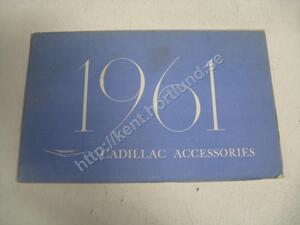 1961 Cadillac Accessories tillbehörsbroschyr