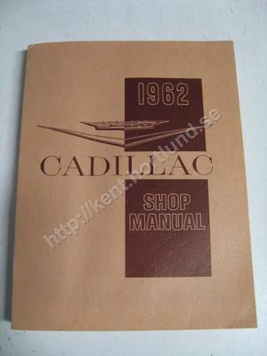 1962 Cadillac Shop Manual original