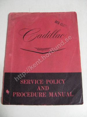 Cadillac Service Policy and Procedure Manual