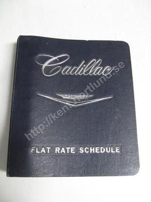 1962 Cadillac flat rate schedule