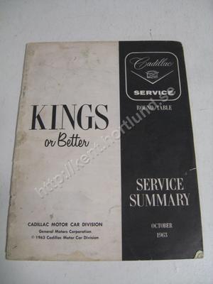 1964 Cadillac Service summary October 1963