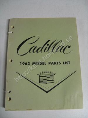 1963 Cadillac Model Parts list