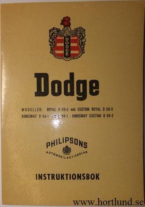 1955 Dodge Instruktionsbok svensk