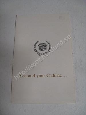 1963 Cadillac broschyr folder