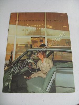 1963 Cadillac broschyr
