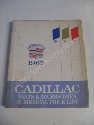 1967 Cadillac Parts & Accessories Numerical Price List