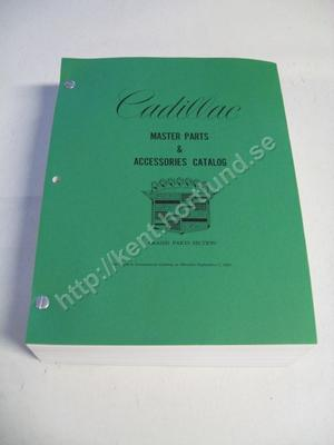 1968 Cadillac  Master Parts & Accessories Catalog