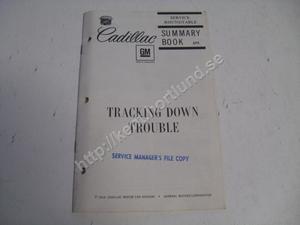 1968 Cadillac  Service roundtable summary book