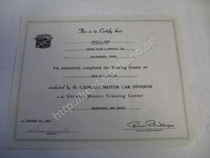 1969 Cadillac  Certificat on rear axle service