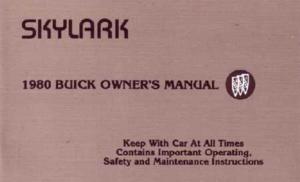 1980 Buick Skylark Owner's Manual