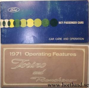 1971 Ford Torino & Ranchero Owners Manual