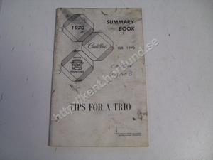 1970 Cadillac Service roundtable summary book
