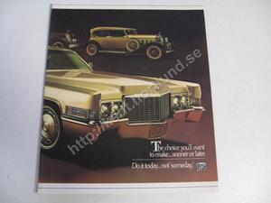 1970 Cadillac Försäljningsbroschyr