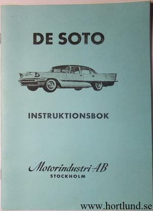 1957 De Soto Instruktionsbok svensk