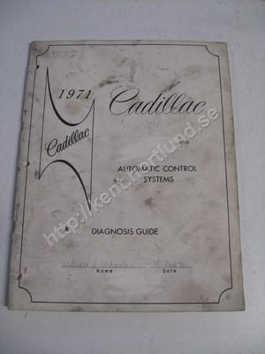 1971 Cadillac Automatic controll systems