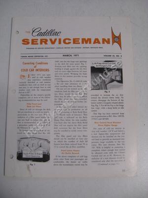 1971 Cadillac The cadillac serviceman Magazine