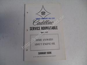 1972 Cadillac Service roundtable summary book