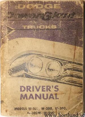 1958 Dodge Truck Driver's Manual