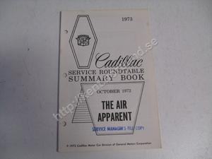 1973 Cadillac Service roundtable summary book