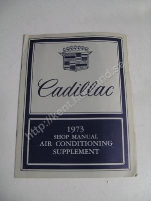1973 Cadillac Air conditioning supplement