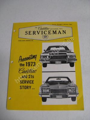 1973 Cadillac The cadillac serviceman Magazine