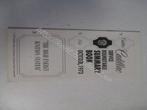 1974 Cadillac Service roundtable summary book