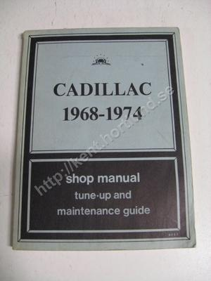 1974 Cadillac shop manual tune up and maintenance guide