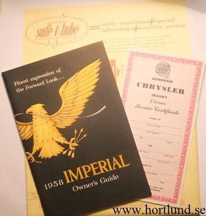 1958 Imperial Owners Manual