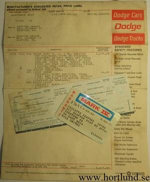 1969 Dodge Dart GT Offert