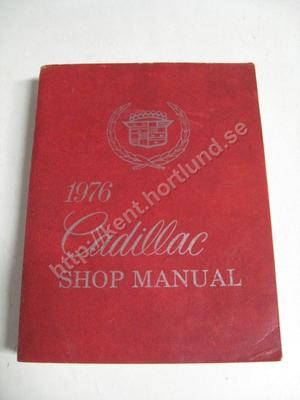 1976 Cadillac Shop Manual