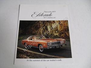 1977 Cadillac Eldorado broschyr